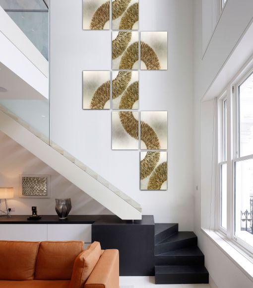 Ferrum - Handmade Textured and Leafed Panels