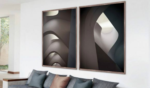 Vaults photography in a standard factory frame.
