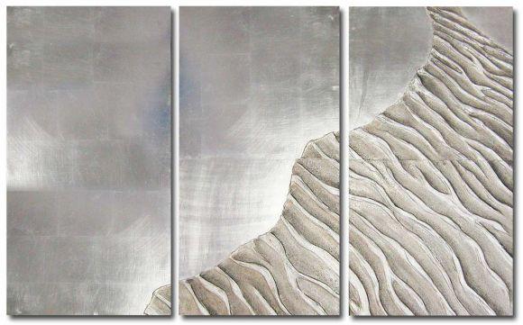 Seashore handmade and leafed textured panel