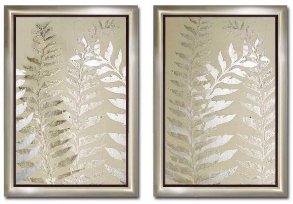 Ferns in standard factory frames