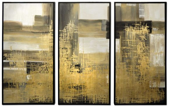 Valona triptych floated in deluxe handmade frames