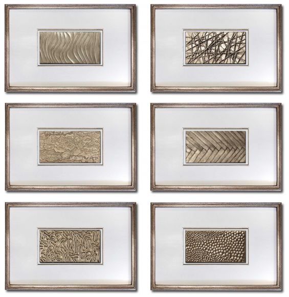 Belvoir handmade textured and leafed panels in deluxe handmade frames