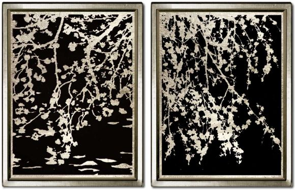 Weeping Willow in deluxe handmade frames