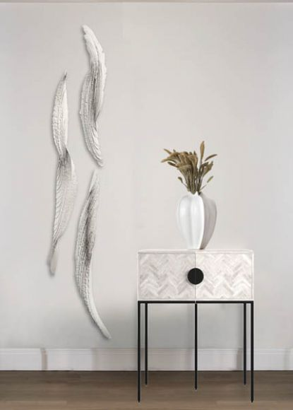 Ignosi Layered and textured plaster wall sculpture