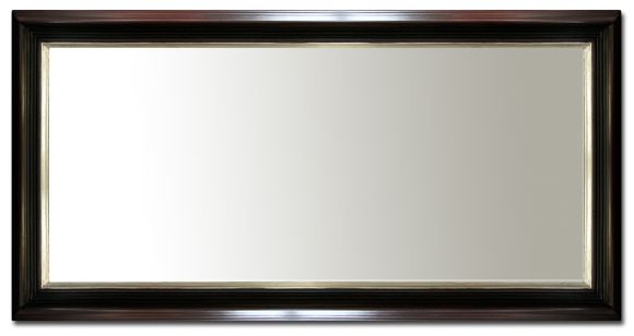 Jet - Mirror in a deluxe handmade frame