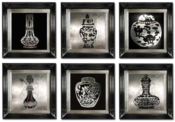 Perfume Bottles in Deluxe Mirror Frames