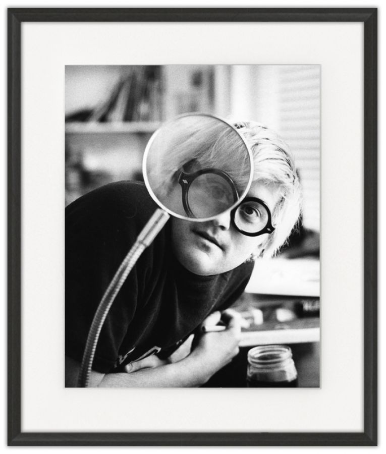 David Hockney: Photographic print in a standard factory frame