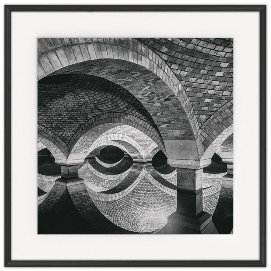 Arched Reflections: Photographic print in a standard factory frame
