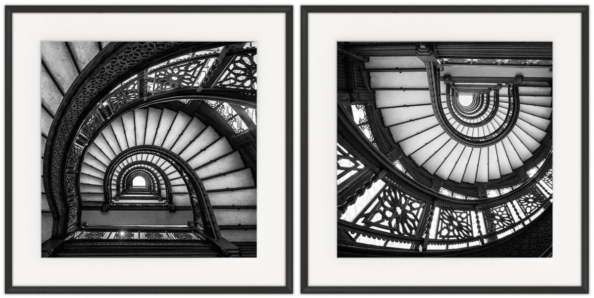 Going Down: Photographic print in a standard factory frame
