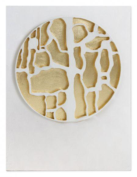 Rusir 01 handmade textured and leafed art