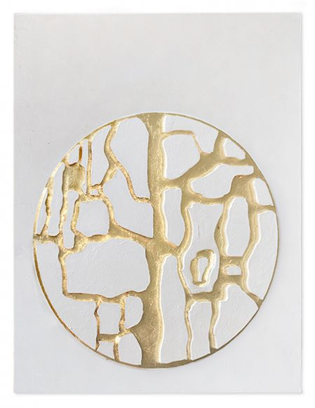 Rusir 02 handmade textured and leafed art