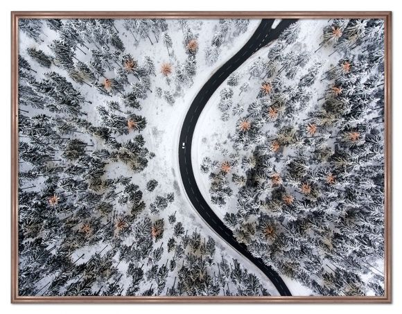 Winter Trees photography in a standard factory frame.
