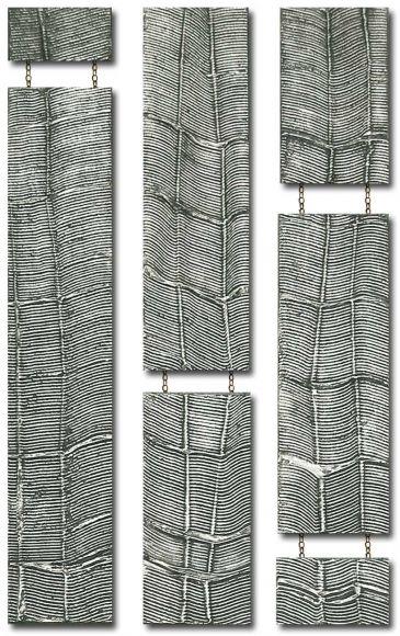 Bellagio Drops Design 3 columns - Silver