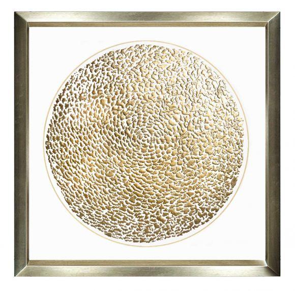 Golden Globe - Handmade leafed art