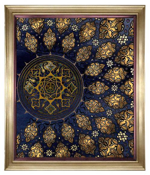 Rosetta 01 in a deluxe handmade frame.