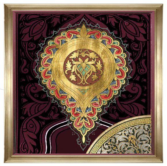 Zbouh 02 on metal leaf in deluxe handmade frame.