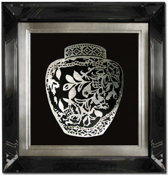 Perfume Bottles 01 in a Deluxe Mirror Frame
